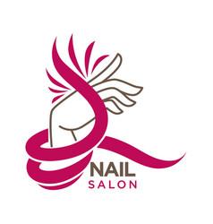 nails studio or manicure salon flat icon vector image