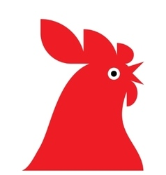 red rooster Mascot vector image vector image