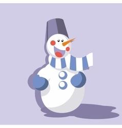 Snowman color 09 vector