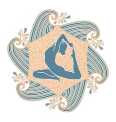 summer yoga vector image vector image
