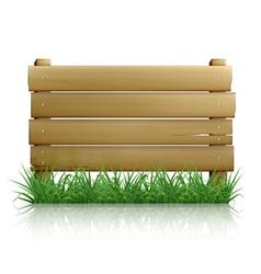 Wooden message board vector image vector image