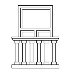 balcony in classic style icon outline style vector image vector image