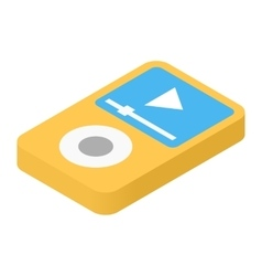 Music player isometric 3d icon vector image vector image