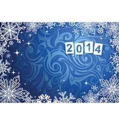 New Years 2014 background vector image vector image