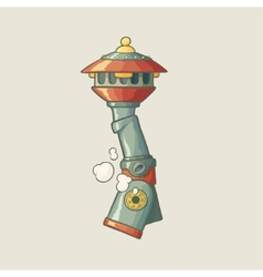 Original of a steampunk styled pipe vector image