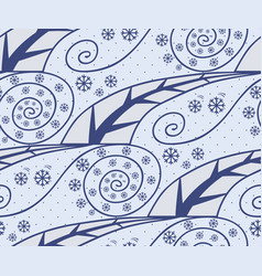 seamless pattern with season winter vector image