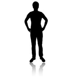 Silhouette of man vector image vector image
