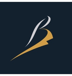 Abstract sign the letter b vector