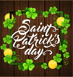 card for st patricks day vector image