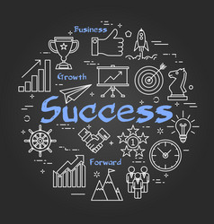 chalk board concept - success vector image vector image