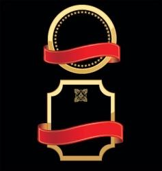 gold metallic labels vector image