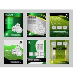 Graphic Design Layout template for flyer vector image vector image