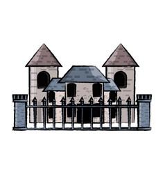 medieval castle icon vector image vector image