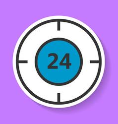 round-the-clock service icon vector image vector image