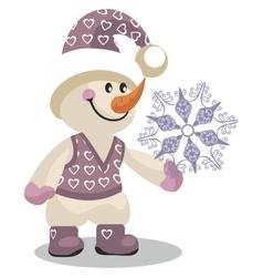 Snowman color 10 vector image vector image