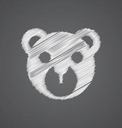 bear toy sketch logo doodle icon vector image