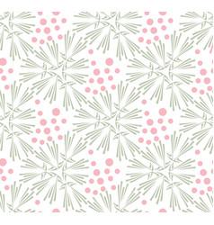 taraxacum floral seamless pattern vector image