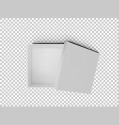 white open empty squares cardboard box isolated on vector image