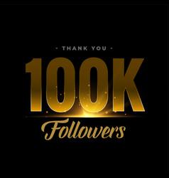 100k social media network followers vector image