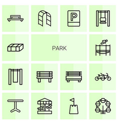 14 park icons vector