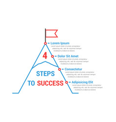 4 steps to success vector