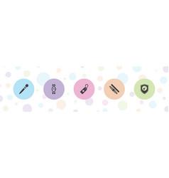 5 swiss icons vector