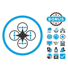 Air Copter Flat Icon with Bonus vector image