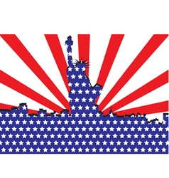 America liberty or 4th july independent day vector