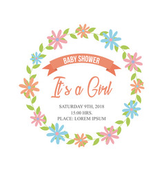 Baby shower related icons image vector