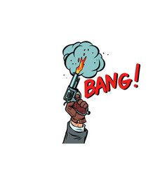 bang the starting gun isolate on white background vector image