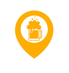 Beer point icon vector