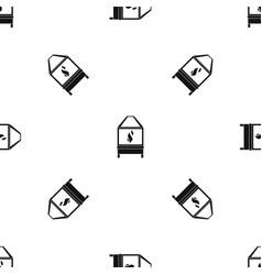 Blacksmith pattern seamless black vector