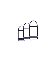 bullets ammo icon line icon vector image