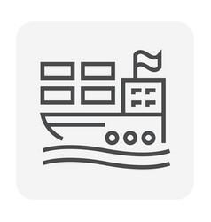 cargo shipping icon vector image