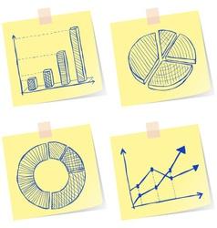 Charts sketches vector image