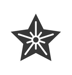 Christmas star christmas related solid style icon vector