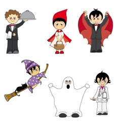 Costumes child vector