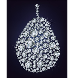 Diamond pear vector image