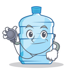 Doctor gallon character cartoon style vector