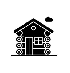 Dwelling black icon sign on isolated vector