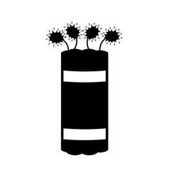 Dynamite explosive pop art style vector