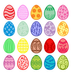 Easter decorative color eggs set vector