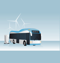 Electric bus is charging vector