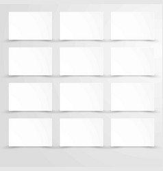 Empty blank paper with white rectangle posters vector