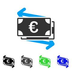 Euro money transfer flat icon vector