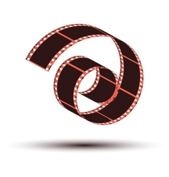 Film stripe curl vector