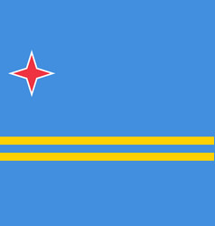 flag of aruba official colors and proportions vector image