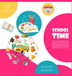 flat back to school concept vector image