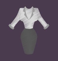 flat shading style icon office dress vector image