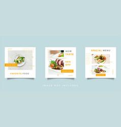 Food and culinary social media feed post vector